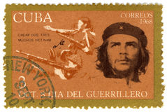 Cuba stamp with Che Guevara Stock Image