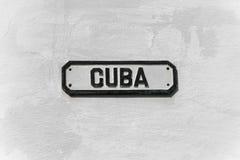 Cuba street sign Stock Images
