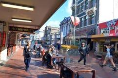 Cuba Street in Wellington New Zealand stock photography