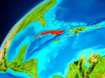 Cuba su terra da spazio royalty illustrazione gratis