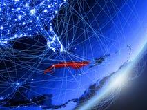 Cuba su terra digitale blu blu illustrazione di stock