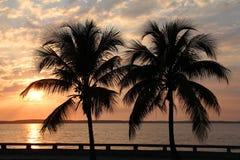 Cuba sunset royalty free stock photos