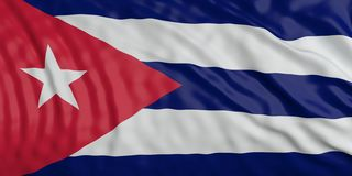 Cuba waving national flag background texture. 3d illustration royalty free stock image