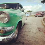 Cuba. Taxis American car Royalty Free Stock Image