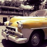 Cuba. Taxis American car Royalty Free Stock Photo