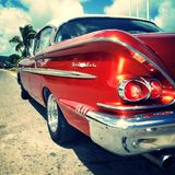 Cuba. Taxis American car Stock Image