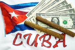 Cuba tegenover de V.S. royalty-vrije stock fotografie
