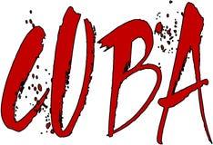 Cuba text sign illustration Stock Image