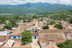 Cuba tourism: Trinidad de Cuba in Sancti Spiritus. Cuba tourism: Trinidad views from the Convent of Saint Assisi tower or Church in Main Plaza which currently Royalty Free Stock Photo