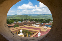 Cuba tourism: Trinidad de Cuba in Sancti Spiritus. Cuba tourism: Trinidad views from the Convent of Saint Assisi tower or Church in Main Plaza which currently Stock Photos