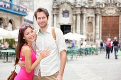 Cuba tourists in Havana Stock Photo