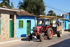 Cuba tractor Royalty Free Stock Image