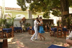 CUBA TRINIDAD DANCERS. IN COURTYARD Stock Photos
