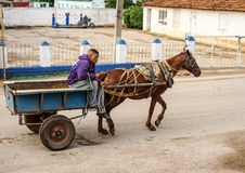 Cuba, Trinidad Horse-drawn carrige Royalty Free Stock Photography