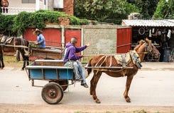 Cuba, Trinidad Horse-drawn carrige Royalty Free Stock Photos