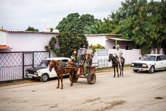 Cuba, Trinidad Horse-drawn carrige Royalty Free Stock Image