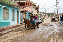 Cuba, Trinidad Horse-drawn carrige Stock Photos
