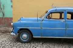 Cuba, Trinidad, Oldtimer. Cuba, Trinidad City, blue Oldtimer Stock Image