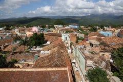 Cuba, Trinidad, partes superiores do telhado Imagens de Stock