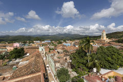 Cuba, Trinidad, roof tops Stock Photos