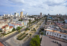cuba Vecchia Avana Vista superiore Prospetto di presidenti Fotografia Stock Libera da Diritti