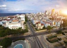 cuba Vecchia Avana Vista superiore Prospetto di presidenti Fotografie Stock Libere da Diritti