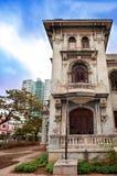 Cuba. Vecchio Havana.Cityscape in un giorno soleggiato fotografia stock libera da diritti