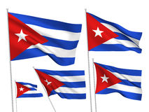 Cuba vector flags Royalty Free Stock Photography