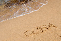 Cuba and waves Stock Photos