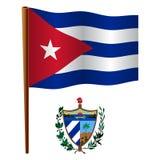 Cuba wavy flag Stock Image
