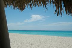 Cuba white beach Royalty Free Stock Photography