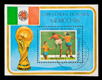 CUBA, World championship football Mexico, 1986 Royalty Free Stock Photography
