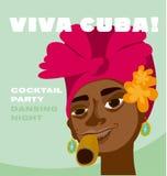 Cubaans vrouwengezicht Stock Afbeelding
