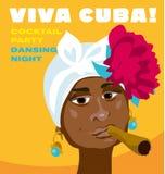 Cubaans vrouwengezicht Royalty-vrije Stock Foto