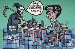 Cubaanse anti-Amerikaanse muurmuurschildering Royalty-vrije Stock Afbeelding