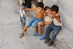 Cubaanse Jonge geitjes royalty-vrije stock fotografie