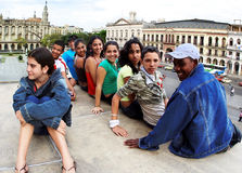 Cubaanse kinderen. Cuba. Havana - Januari 24, 2009 Stock Fotografie