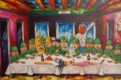 Cubaanse kunstenaarsvertegenwoordiging van het eind van kapitalisme stock foto's