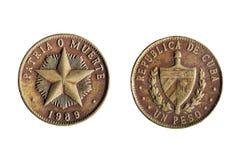 Cubaanse peso op wit Royalty-vrije Stock Foto
