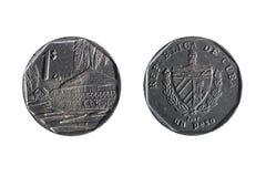 Cubaanse peso op witte achtergrond Royalty-vrije Stock Afbeelding