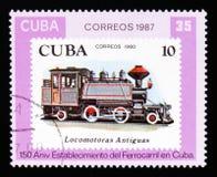 Cubaanse Spoorwegen - 150ste verjaardag, circa 1987 Stock Afbeeldingen