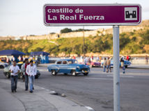 Cubaanse straat Stock Fotografie