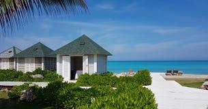 Cubaanse Strandhutten Varadero royalty-vrije stock foto's