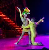 Cubaanse uitvoerder in Tropicana-cabaret Royalty-vrije Stock Afbeeldingen