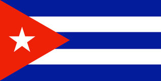 Cubaanse Vlag stock illustratie