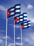 Cubaanse vlag Stock Afbeeldingen