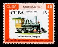 Cubaanse zegels 2361, Cubaanse Spoorwegen, 150ste verjaardag serie, cir Stock Foto's