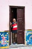 Cubain à la porte Images libres de droits