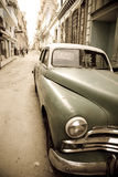 Retro Cuban car Stock Photography