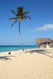 Cuban beach. Cuba - Caribbean beach landscape in Playas del Este part of Havana Province. Sandy beach Stock Images